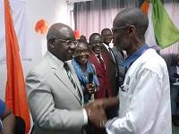 M.NGUESSAN et le DR: présentation de voeux au DR